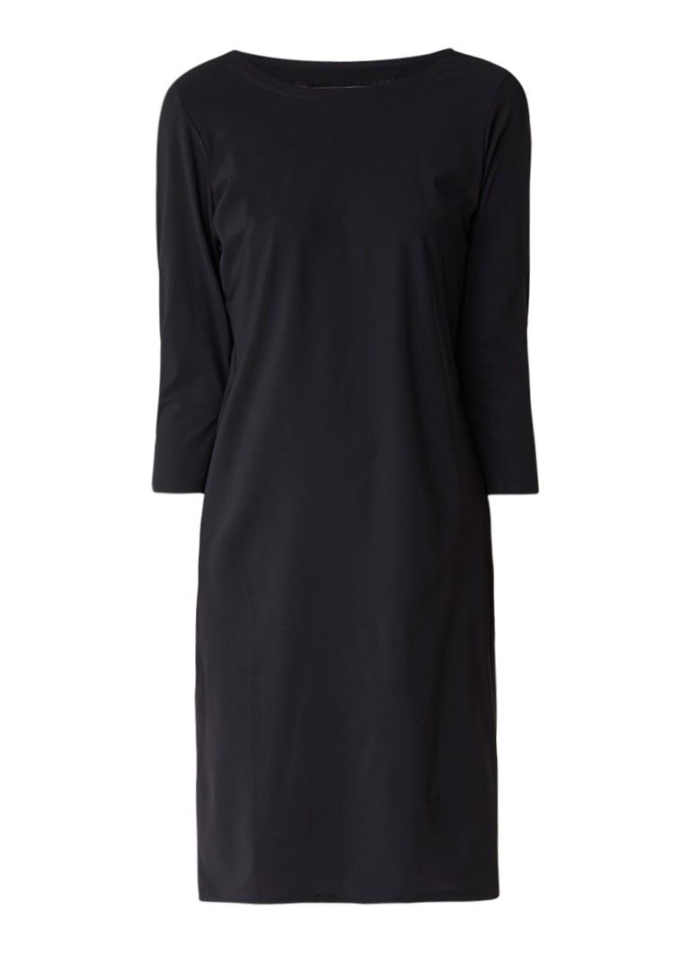 Moscow Midi-jurk met driekwartsmouw zwart