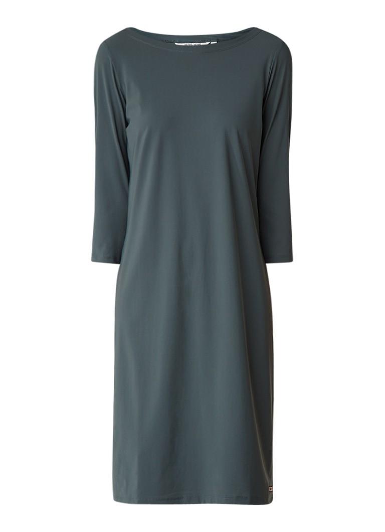 Moscow Midi-jurk met driekwartmouw donkergroen