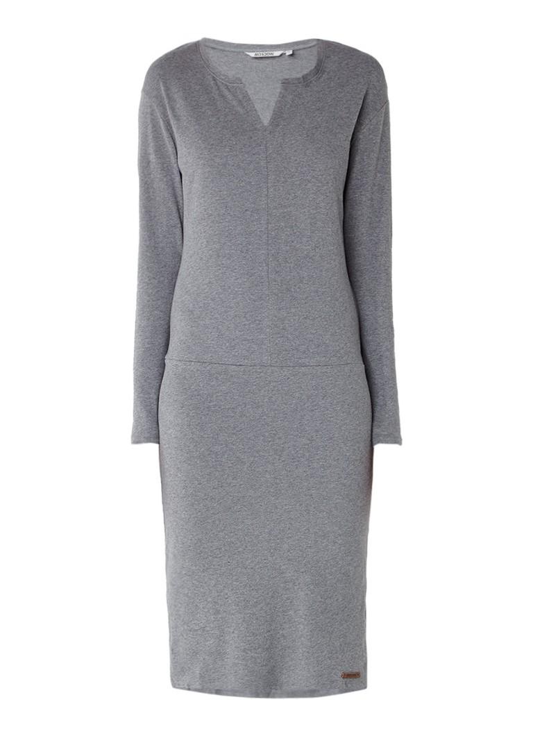Moscow Gemêleerde sweaterjurk in katoenblend grijsmele