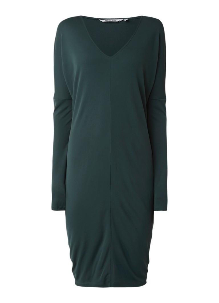 Moscow Midi-jurk met vleermuismouw donkergroen