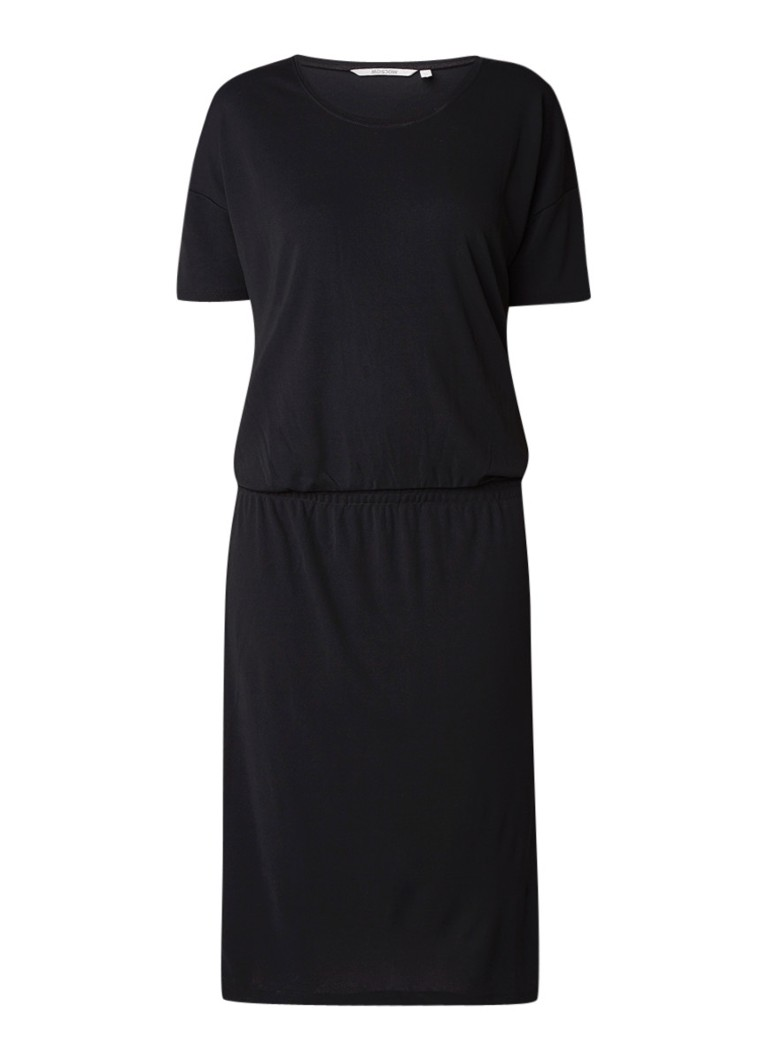 Moscow Midi-jurk met elastische tailleband zwart