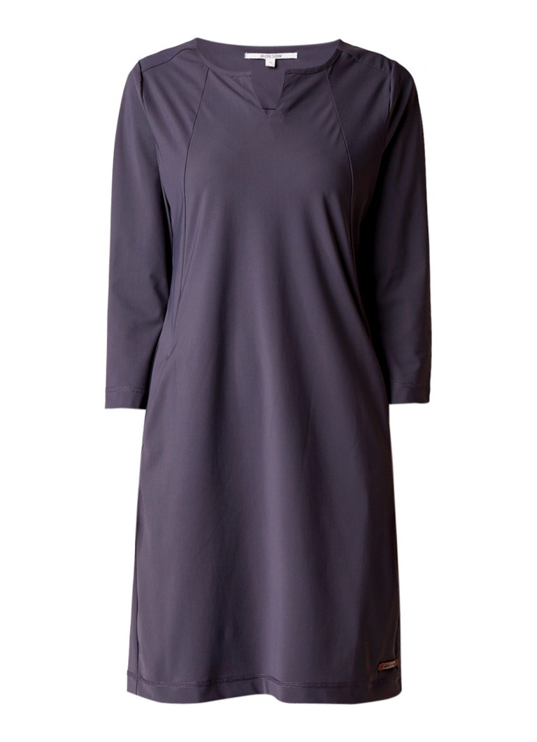 Moscow Midi-jurk van stretch jersey met steekzak antraciet