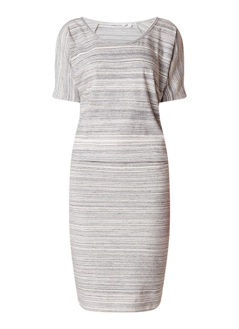 Moscow Jersey jurk met streepdessin grijsmele