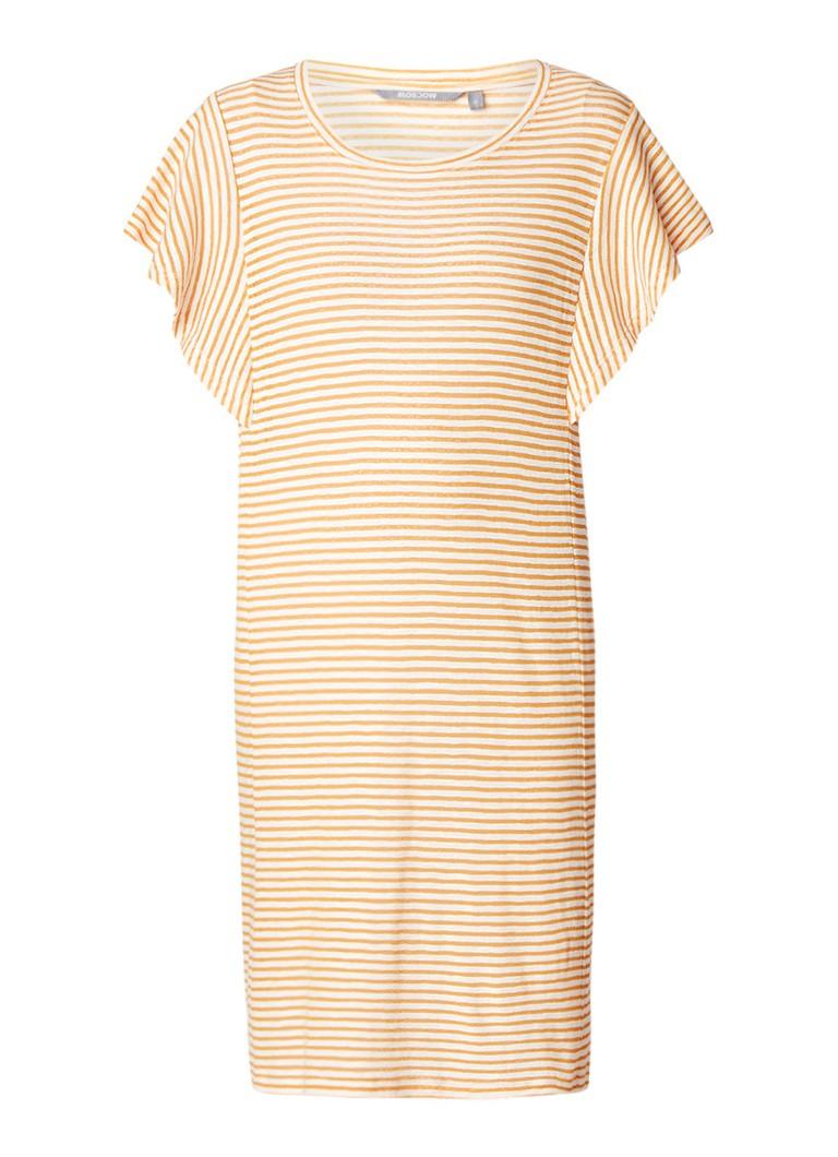 Moscow Jersey jurk met streepdessin oranje