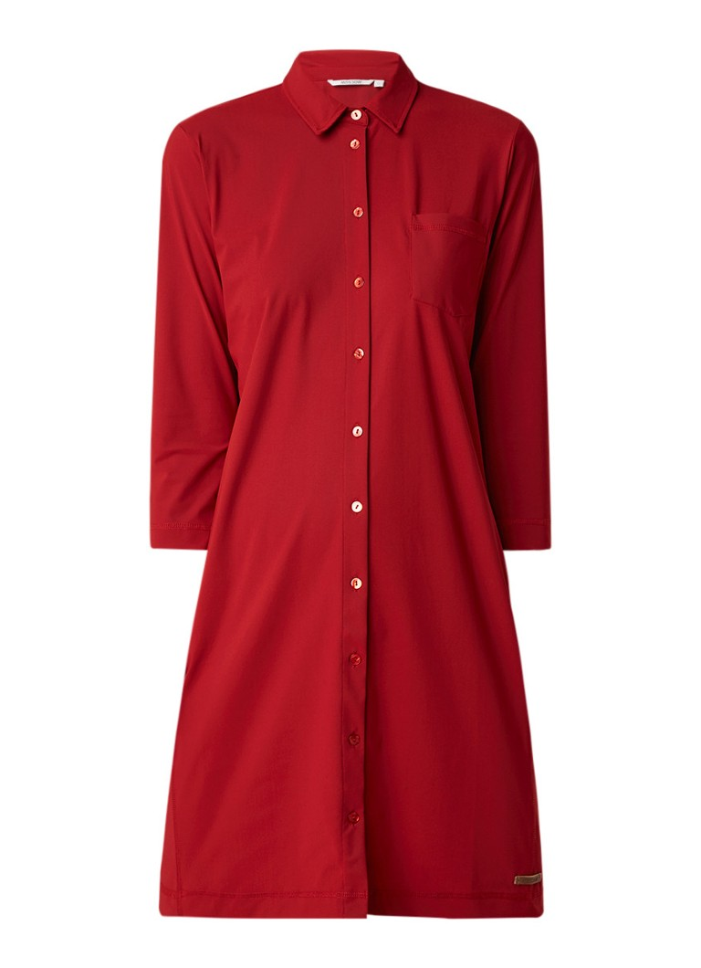 Moscow Blousejurk van jersey met borstzak rood