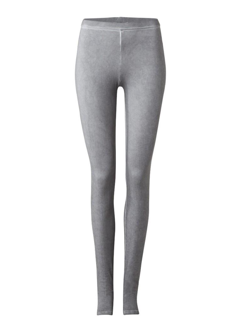 Moscow Basic legging met garment dye grijs