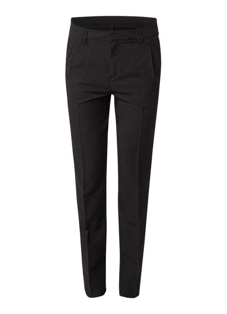 Moscow Slim fit pantalon met persplooien grijs