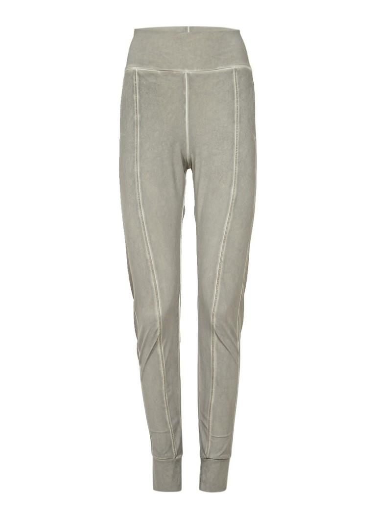 Moscow Stretchjersey pantalon met garment dye grijs