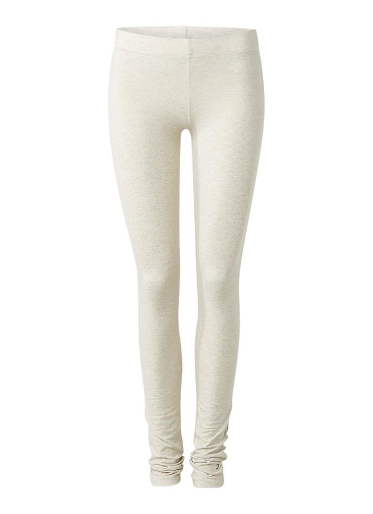 Moscow Gemeleerde legging van stretchkatoen grijs