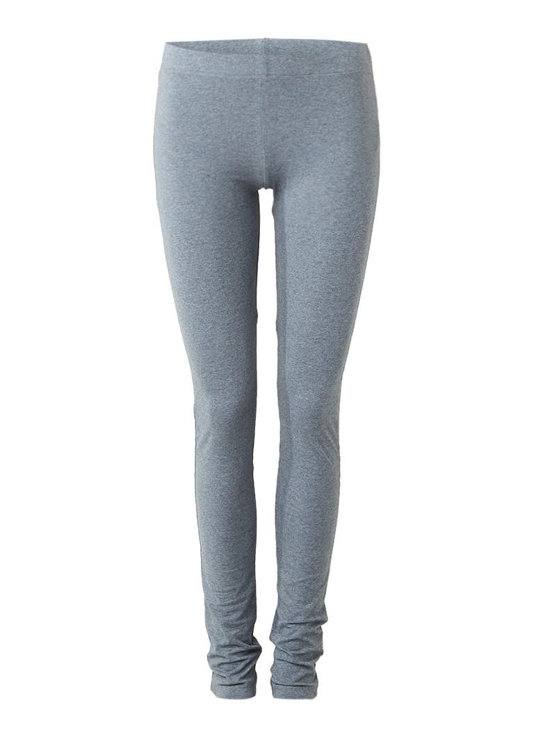 Moscow Gemêleerde legging van stretchkatoen grijs