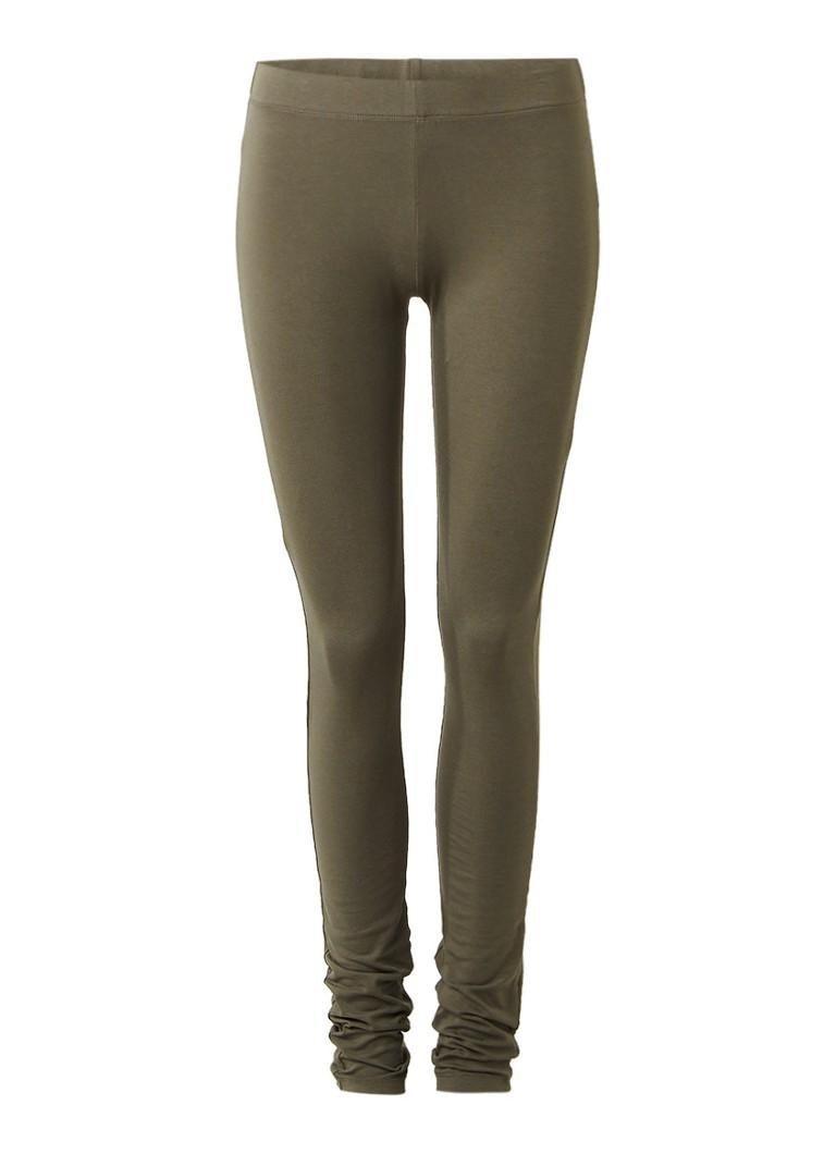 Moscow Basic legging van stretchkatoen grijs