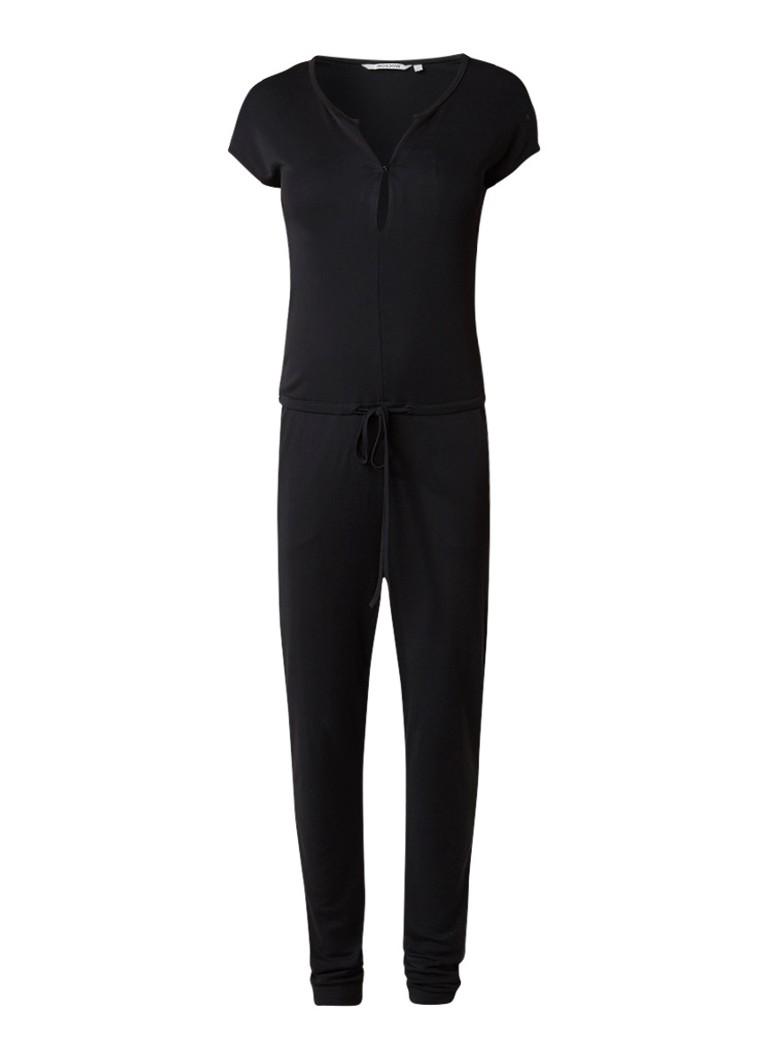 Moscow Jersey jumpsuit met tunnelkoord grijs
