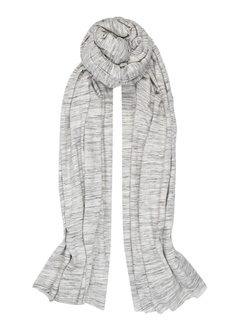 Moscow Sjaal in katoenblend 230 x 70 cm grijs