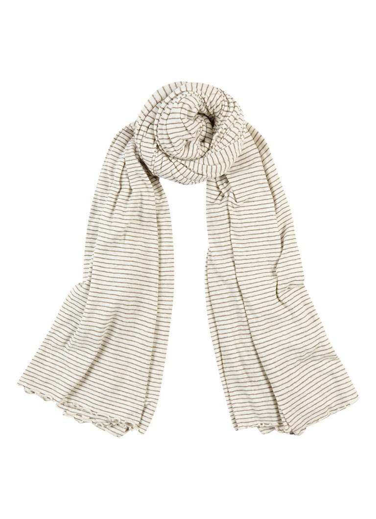 Moscow Sjaal in linnenblend 190 x 150 cm grijs