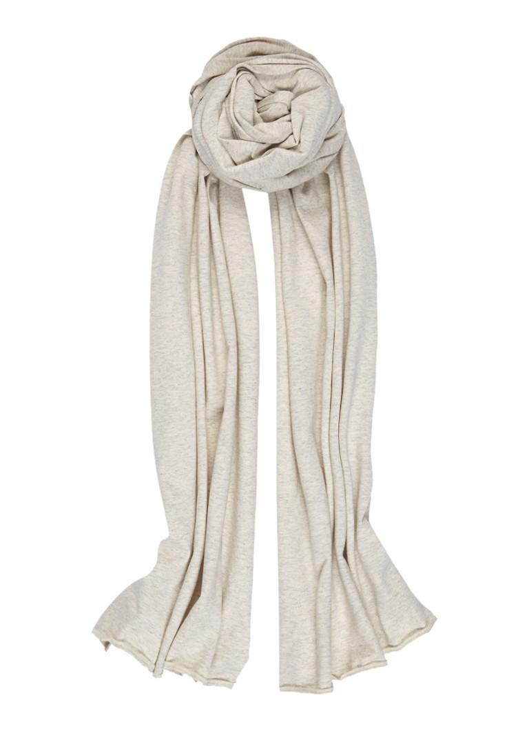 Moscow Sjaal in katoenblend 260 x 40 cm grijs