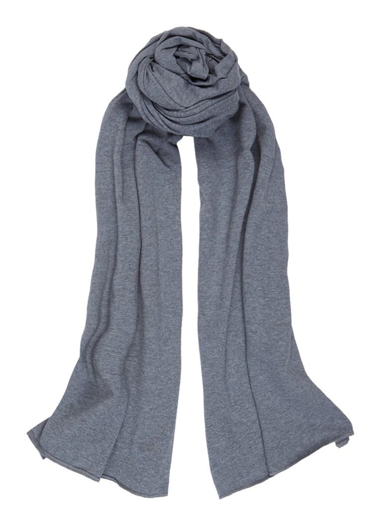 Moscow Sjaal in katoenblend 265 x 40 cm grijs