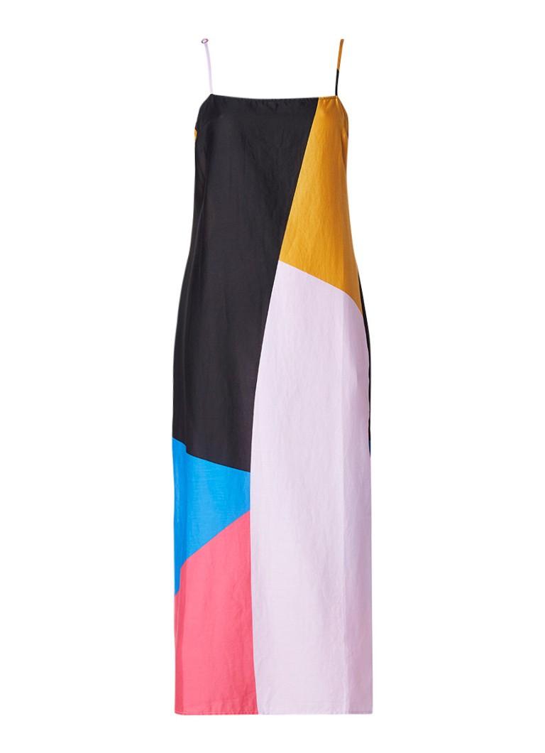 Mara Hoffman Sena strandjurk met colour blocking en split
