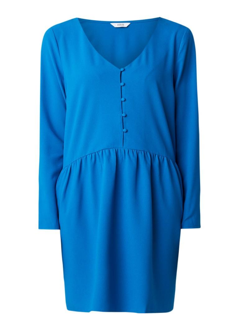 Envii Enserra mini-jurk van crêpe met plissé detail blauw