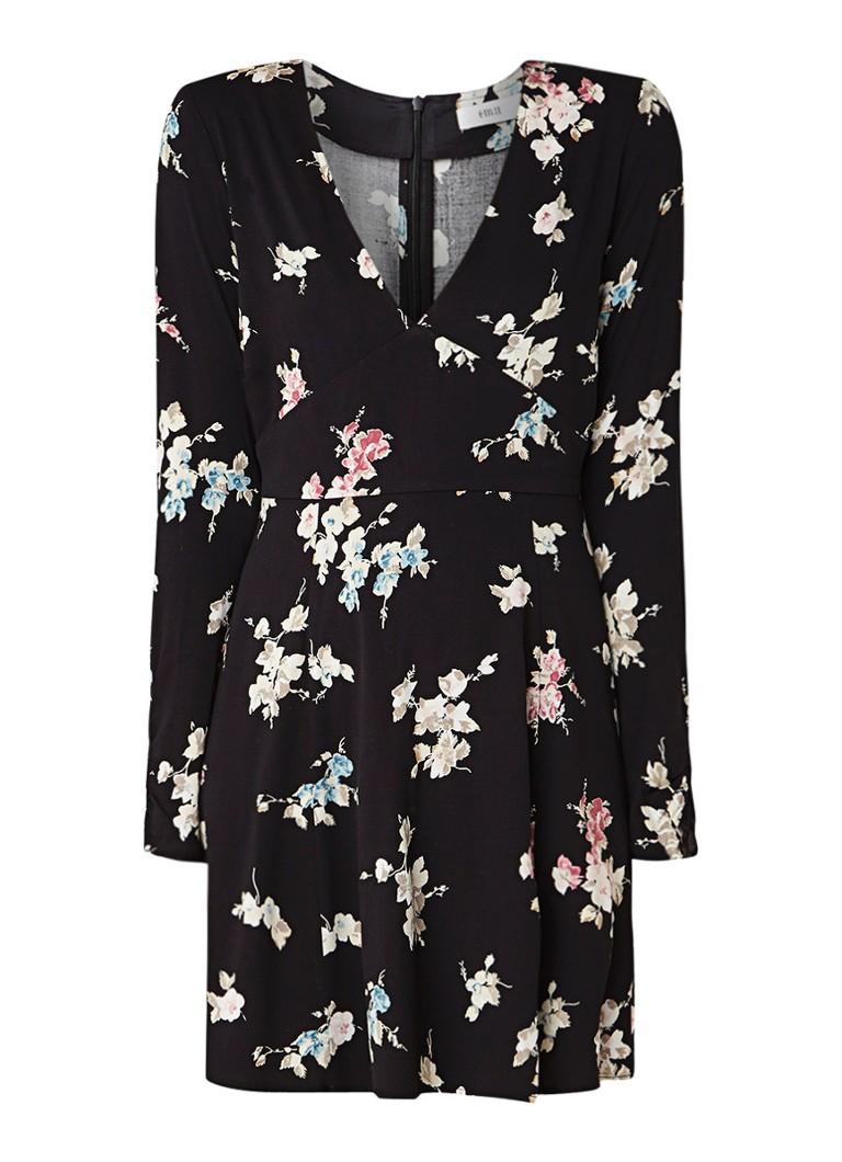 Envii Enkyoto A-lijn jurk met bloemendessin zwart