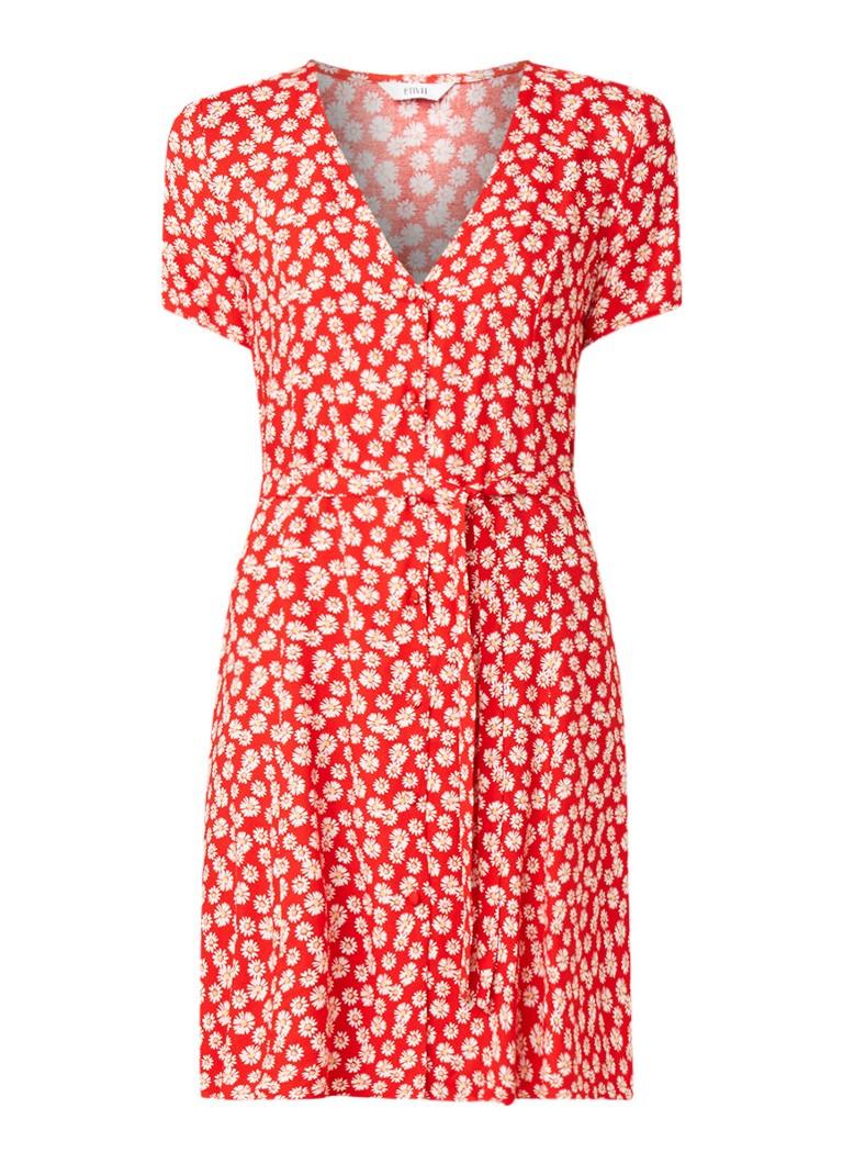 Envii Enfairfax blousejurk met bloemendessin rood