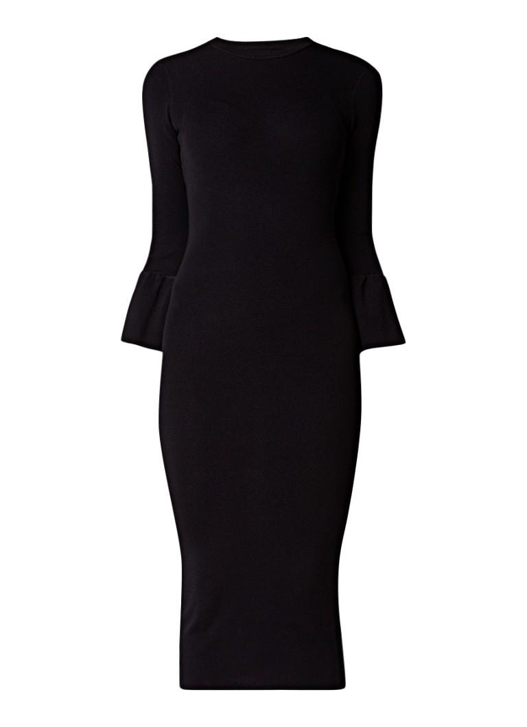 Envii Ensprinkle bodycon jurk van jersey zwart