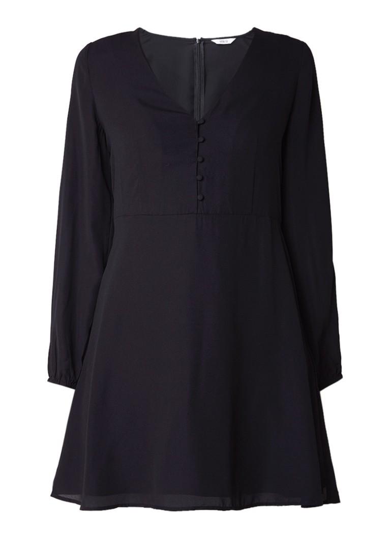Envii Enswan A-lijn jurk met knopendetail zwart