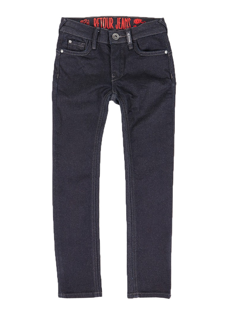 Retour Jeans Ivy skinny fit jeans met glitter coating