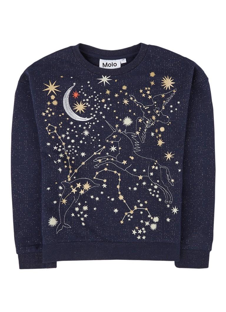 Molo Maila sweater met borduring en lurex
