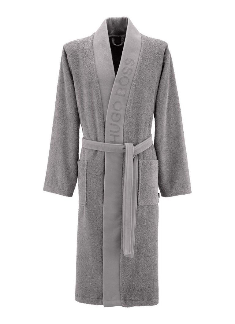 HUGO BOSS Plain badjas van Egyptisch katoen