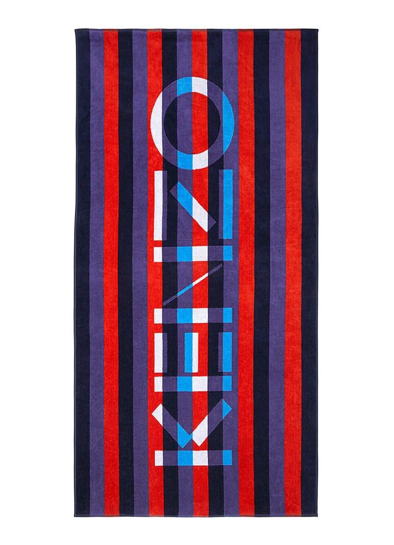 KENZO Krayure strandlaken met streepdessin 90 x 160 cm