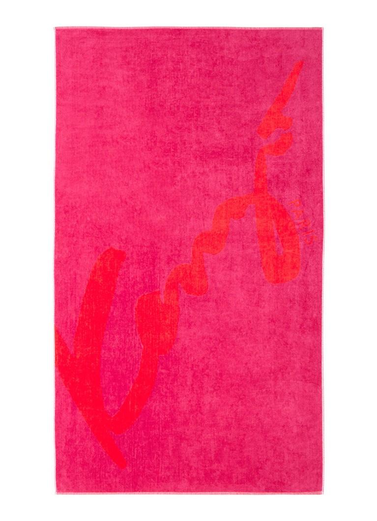 KENZO Signe strandlaken met logoprint 90 x 160 cm