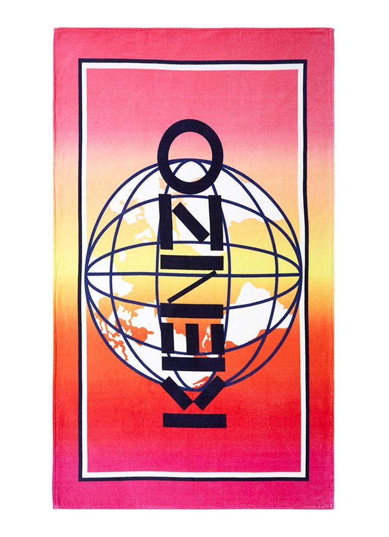 KENZO Globe strandlaken met logoprint 100 x 170 cm
