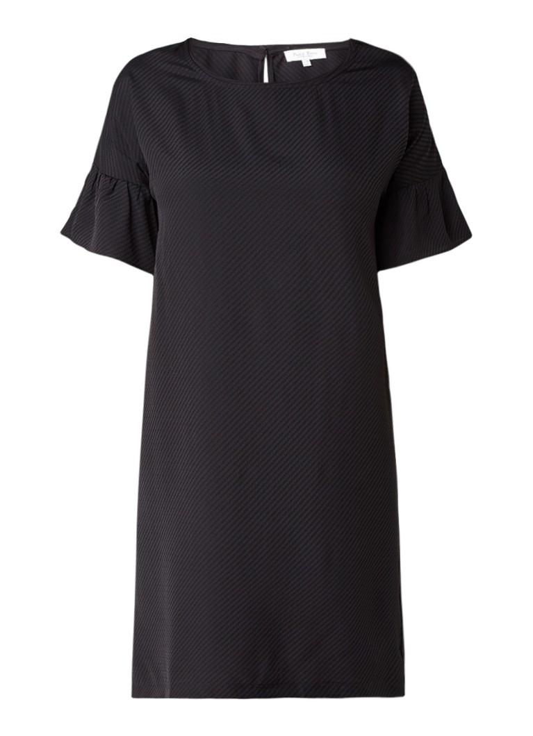 Part Two Gatzie rechte jurk met volantmouw zwart