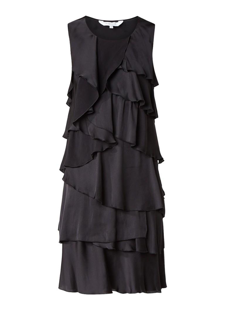 Part Two Glea jurk met volant stroken zwart