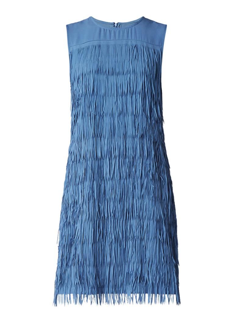 Part Two Blix mouwloze jurk met franjes blauw