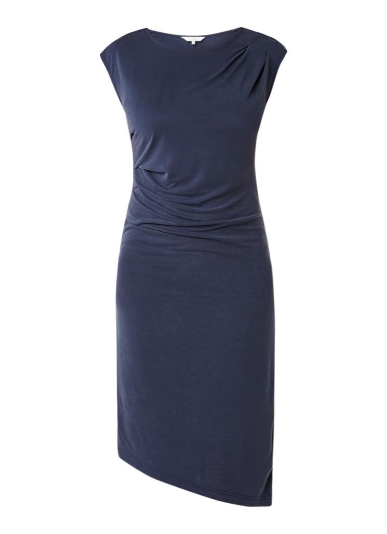 Part Two Heyah gedrapeerde jurk met plooidetail op schouder blauwgrijs