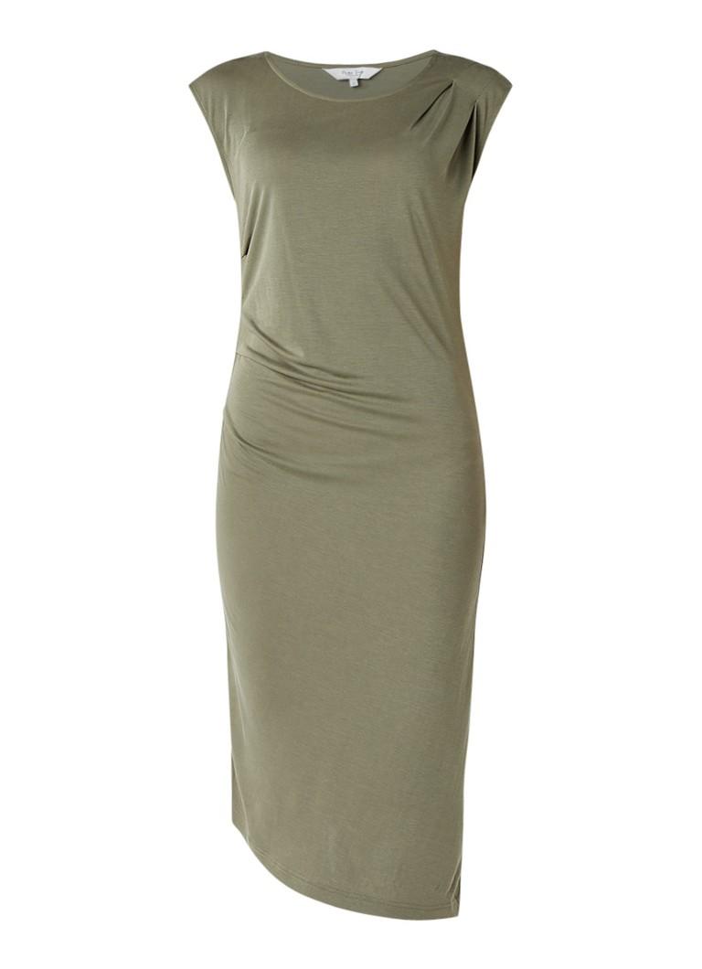 Part Two Heyah gedrapeerde jurk van jersey olijfgroen