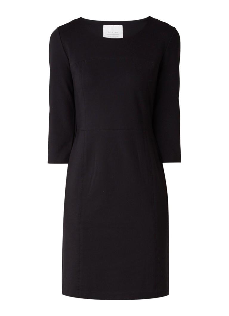 Part Two Isobel midi-jurk met deelnaad zwart