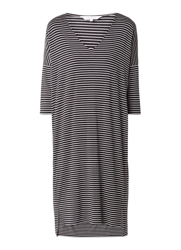 Part Two Dericka jurk van jersey met streepdessin zwart