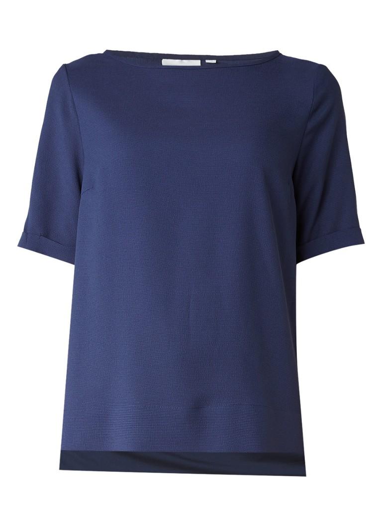 InWear Gacia top met split aan weerszijden blauw