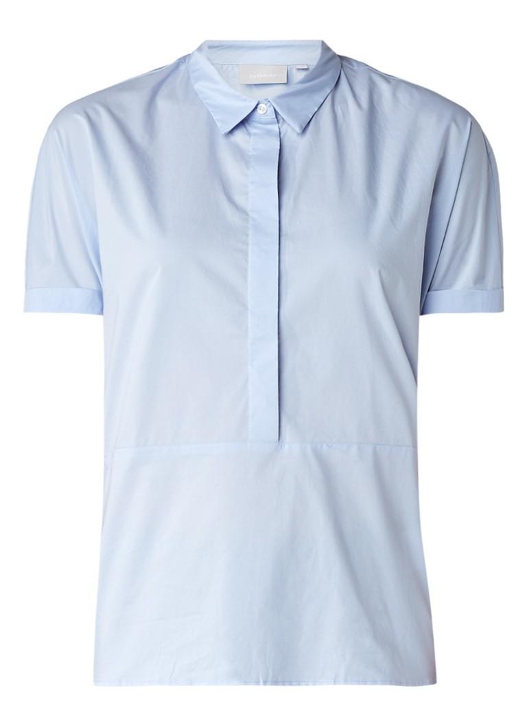 InWear Gryta boxy blouse met strikdetail blauw