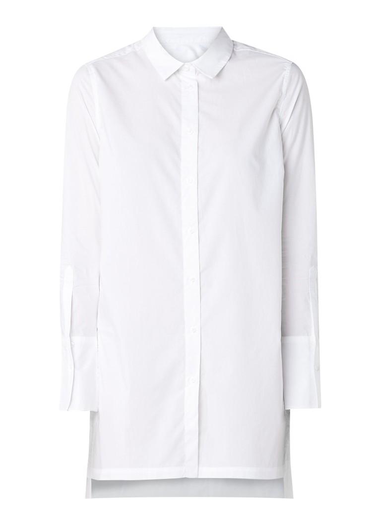 InWear Gryta halflange blouse met zijsplits blauw