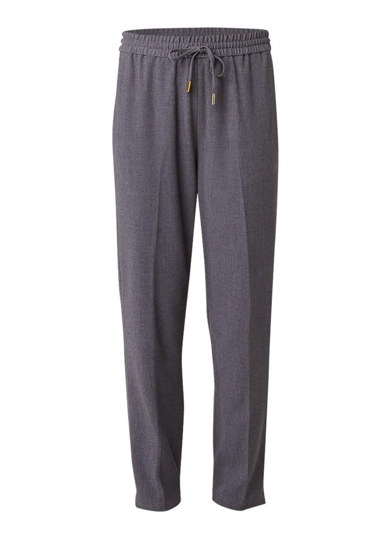 InWear Yoriko pantalon met elastische boord blauw