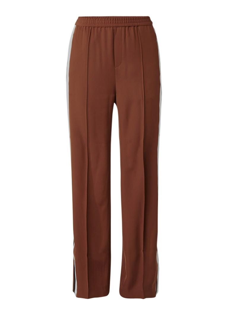 InWear Zayda loose fit broek met contrastbies blauw