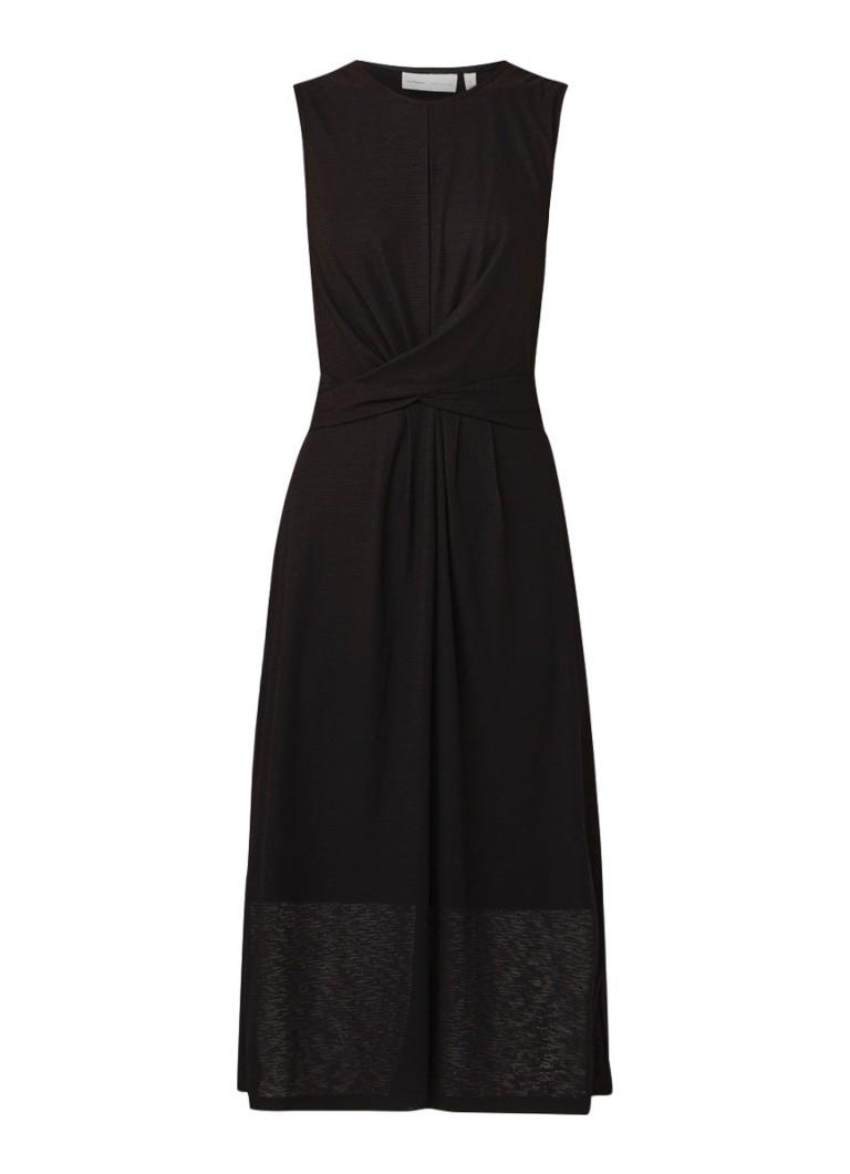 InWear Patzii mouwloze maxi-jurk met knoopdetail zwart