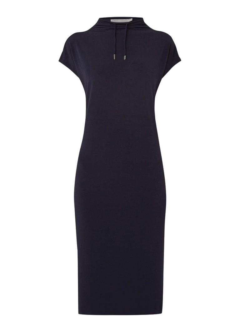 InWear Perlai midi-jurk met col en trekkoord donkerblauw