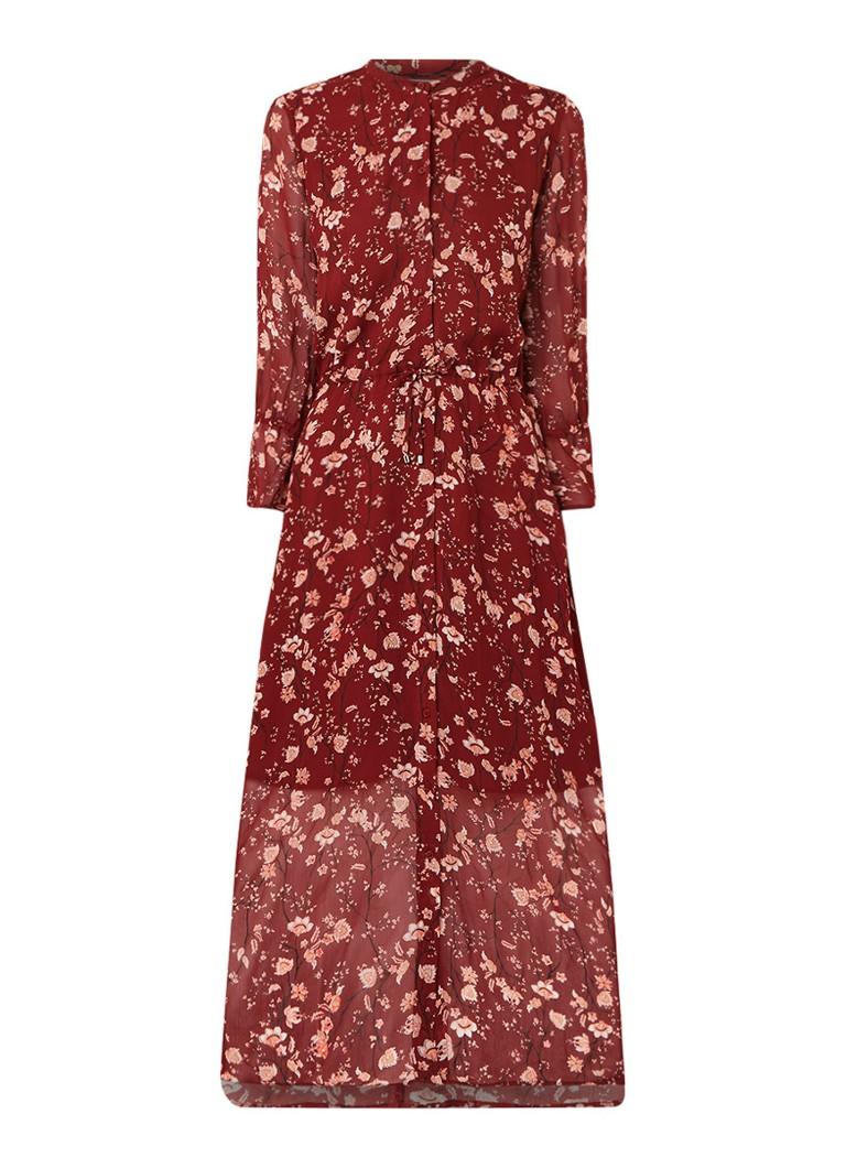 InWear Trilby maxi-jurk met bloemendessin roestbruin