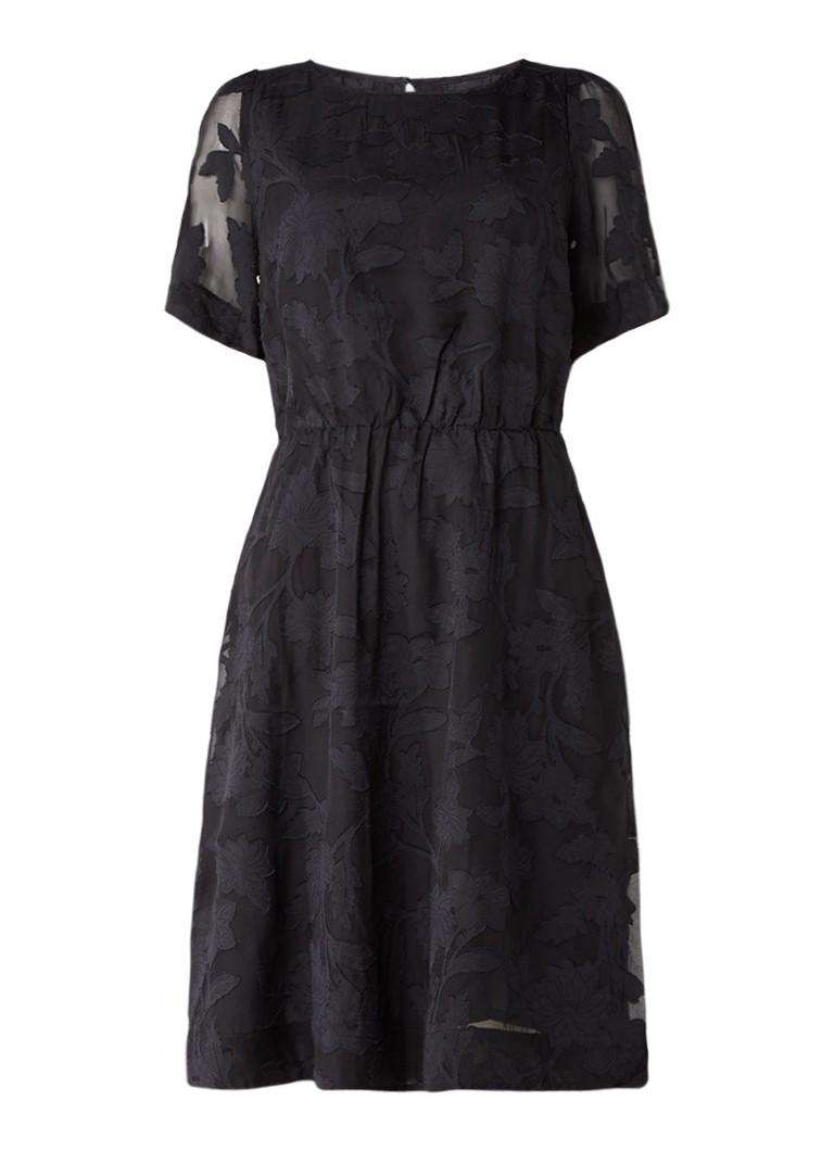 InWear Gora jurk in zijdeblend met bloemendessin zwart