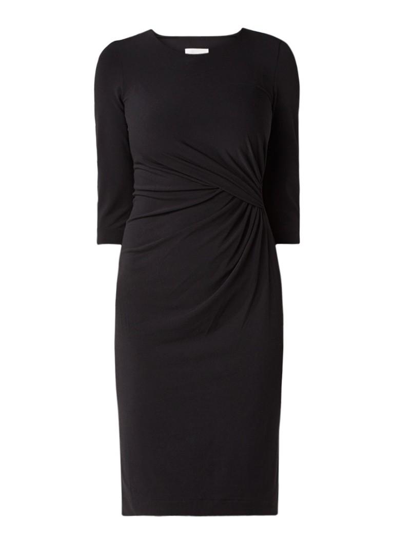 InWear Cilla gedrapeerde midi-jurk zwart