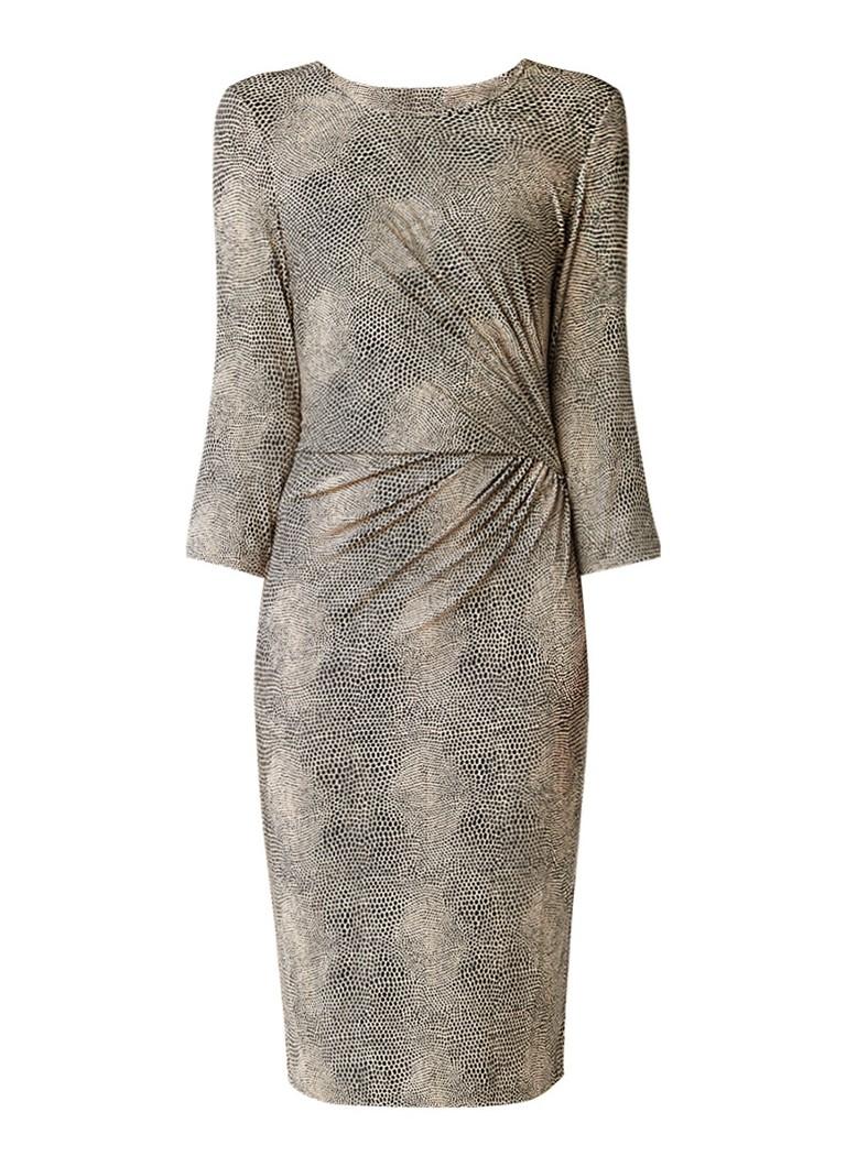 InWear Jersey jurk met tailleplooi zwart